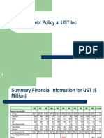 Debt Policy at UST Inc.