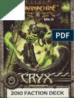 Cryx MK II 2010 Cards