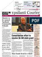 Ypsilanti Courier Front Page Feb. 7, 2013