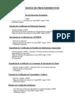 Requisitos oficina de Títulos Certificados Actas y Becas - DREP.
