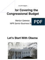 Tips for Covering the Congressional Budget