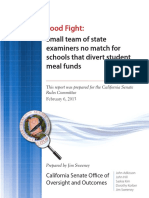 California Senate Rules Committee Report on free and reduced lunches