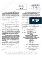 Unity Lutheran School February 2013 Newsletter