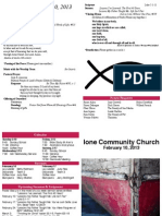 Ione Community Church Bulletin