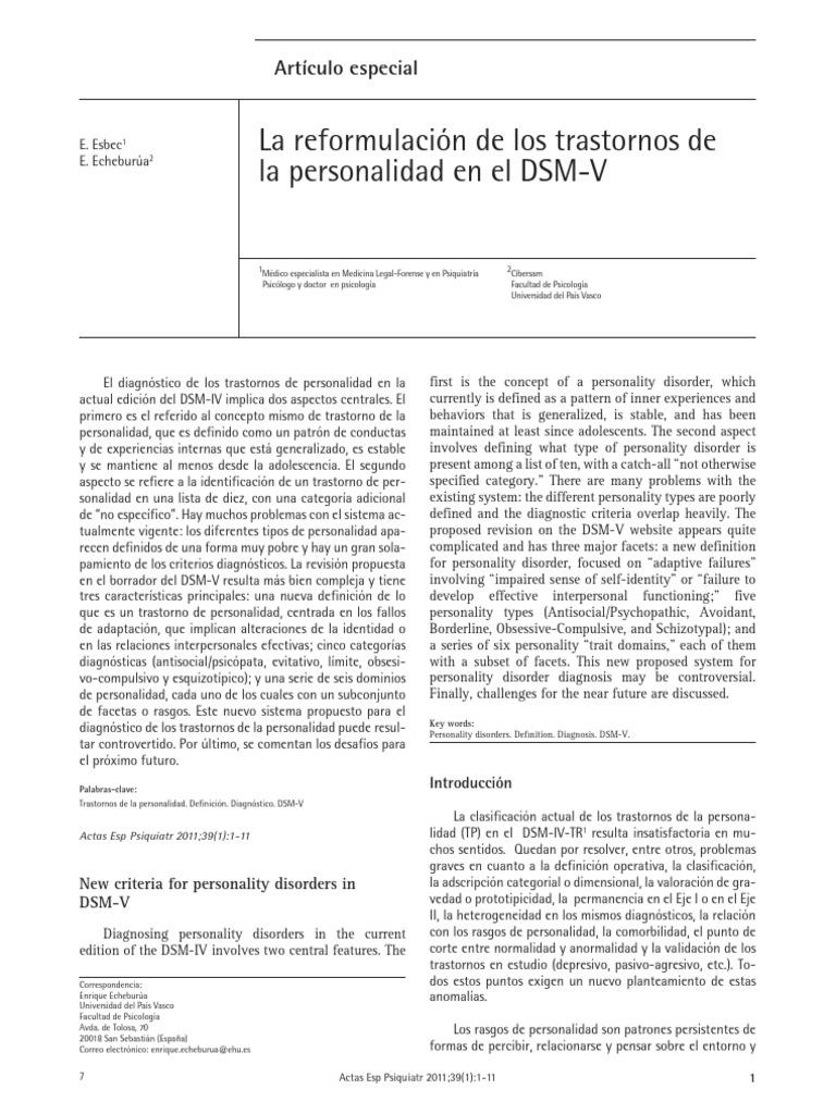 Revision Del Dsm y Dsm V
