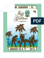 8th Annual Jazz In The Gardens Press Kit