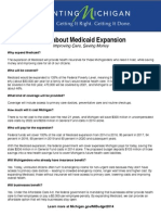 Michigan - Facts about Medicaid Expansion