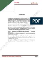 REGLAMENTO DE ORGANIZACIÓN Y FUNCIONES - ROF