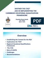 Thr Caribbean Vocational Qualification Framework