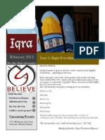 Iqra Newsletter Issue 6 Volume 3