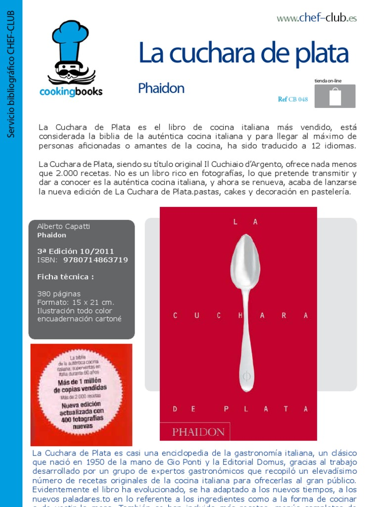 Libro cocina 048 la cuchara de plata phaidon - La cocina fit de vikika pdf ...