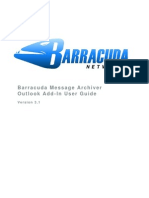 Barracuda Message Archiver Outlook Add-In User Guide