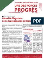 Janvier 2013  GFP sur réforme territoriale