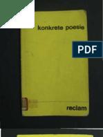 Gomringer_KONKRETE POESIE_1973