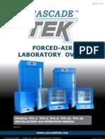 CascadeTEK Laboratory Forced-Air Oven Manual
