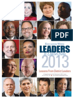 Education Week's Leaders to Learn From 2013