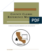 County Clerk reference manual
