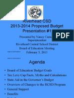 Riverhead School District 2013-2014 budget presentation no. 1