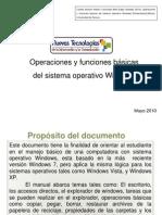 Operacions y Funciones Basicas Del Sistema Operativo Windows