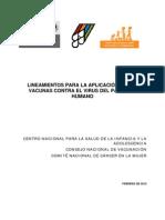 Lineamientos Para La Aplicacion de La Vacuna Vph Feb 2012