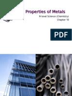 N(A) Science (Chem) Chp 10 Properties of Metals