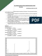 Modal Parameter Identification Report