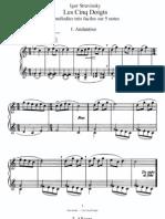 Stravinsky Cinco Dedos