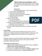 fourth grade math celebration guidelines