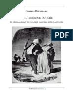Baudelaire - 1855 - De l'Essence Du Rire