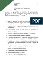 Ensino de geografia e historia do pensamento geografico - tópicos.doc