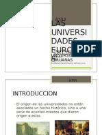 Las Universidades Europeas