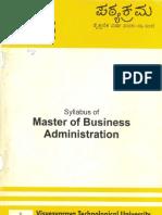 VTU MBA Syllabus Copy 2005-08