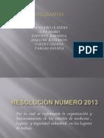 Resolución  2013