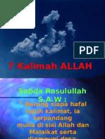 7 Kalimah Allah