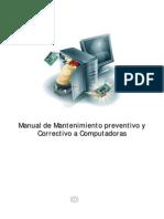 Manual de Mantenimiento Preventivo y Correctivo a Computadoras