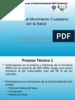 Procesos en El Movimiento Ciudadano Por La Salud - Guatemala