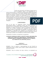 c g Prot Info Conf y Reserv