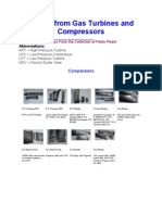 Blades From Gas Turbines and Compressors