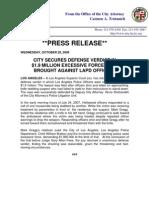 LAPD *Press Release*