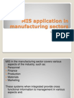MIS Application in Manufacturing Sectors