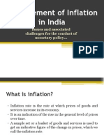 Measurement of Inflation in India -