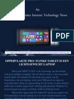 Oppervlakte pro, flinke tablet is een lichtgewOPPERVLAKTE PRO