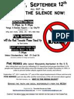 2011-09-12 - media blackout break the silence now - poster