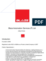 Blaze Automation Profile India _ 2009