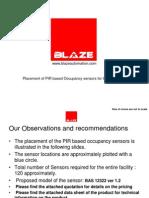 Occupancy Sensor Placement From BLAZE Automation UNICEF PATNA