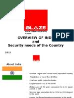 Security Needs of India_BLAZE Automation 2010