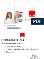 Blaze Automation Security Alarms Product Profile May 2012