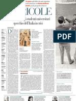 Il calo degli studenti universitari, specchio dell'Italia in crisi. Di MARCO REVELLI - La Repubblica 07.02.2013