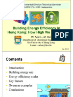 Building energy efficiency in Hong Kong