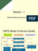 M1 GAPS Model of Service Quality
